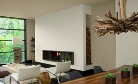 暖炉,ビルトイン暖炉,薪置き場